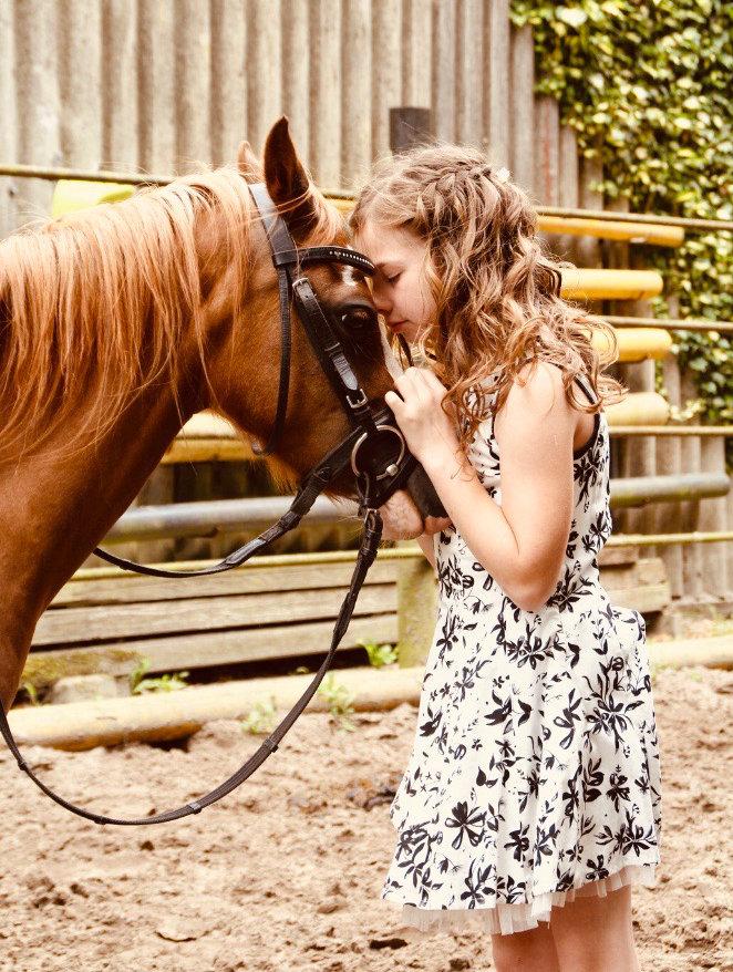 Lien entre l'enfant et son poney